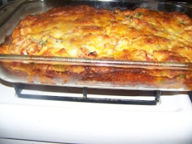 Fiesta bake I threw together with stuff in my kitchen and its amazing. see recipe in the recipe tab on the main page of my blog.