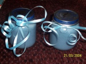 Baby shower favors I did for a customer in baby powder scent. $4 each